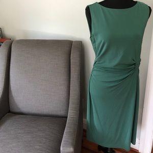 Lovely light teal Ann Taylor boatneck dress